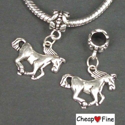 lots 30pcs Tibetan silver HORSE DANGLE Charms Bead