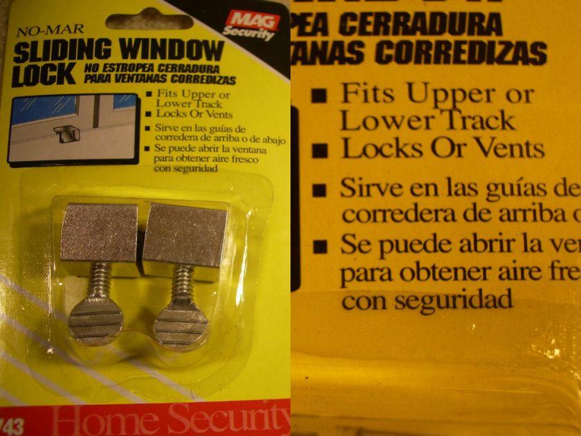 Sliding Window Sash Latch Lock Security Thumbscrew Locks ONE PAIR