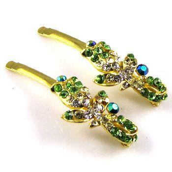 ADDL Item  2 Rhinestone crystal flower hair side clip