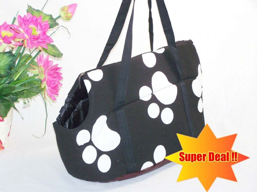 New  HOT Pretty Black Paws / Pet Dog Cat Travel Carrier / Tote Bag