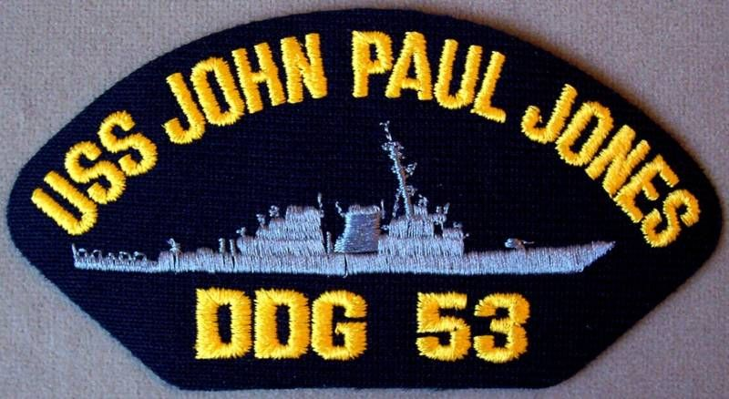 US Navy Cap Patch USS John Paul Jones DDG   53