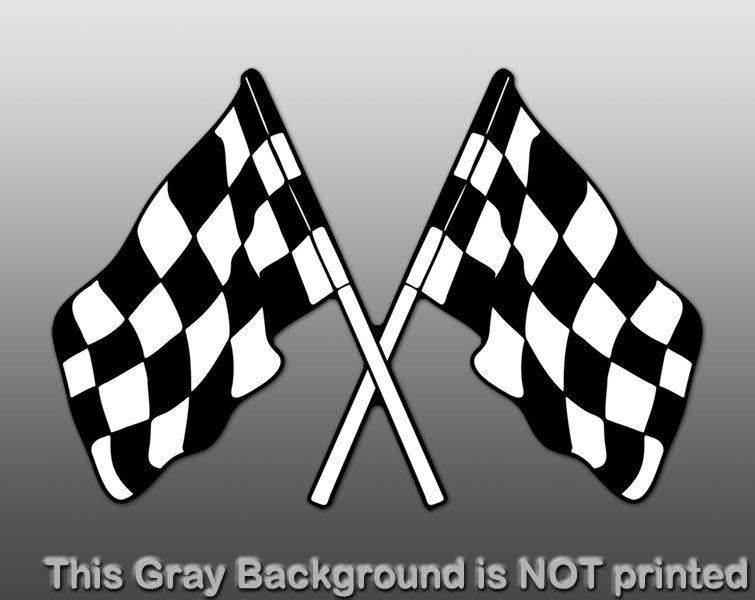 Flags Sticker  decal vinyl shape shaped car nascar race fun check