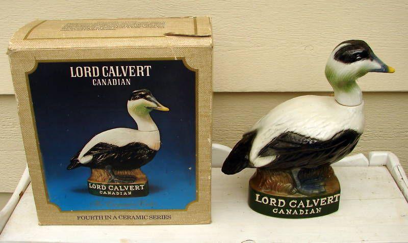 DUCK DECANTER LORD CALVERT CANADA COMMON EIDER BOX 10