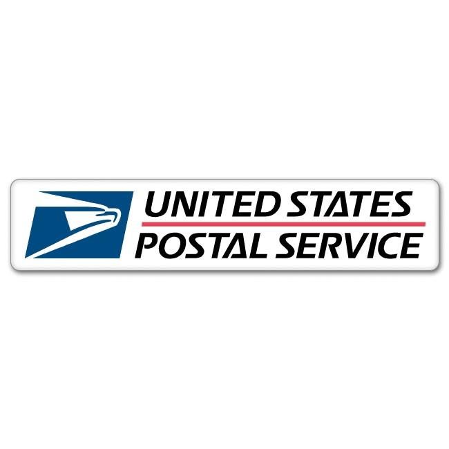USPS Postal Service car bumper sticker 8 x 2