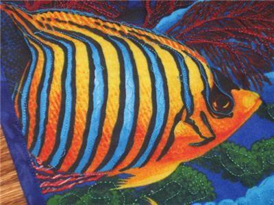 Handmade Table Runner tropical Fish Aquarium Quilted