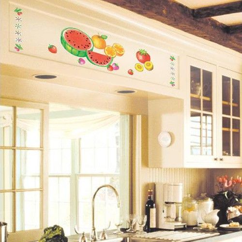 Fruit Salad Kitchen Adhesive Removable Wall Home Decor Accents